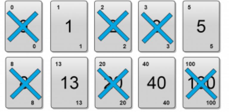 Tablo 9: Poker kartlarını azaltma